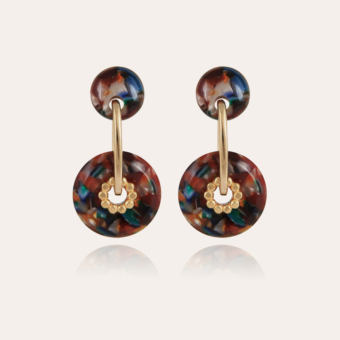 Amalfi Bis earrings acetate gold - Multico