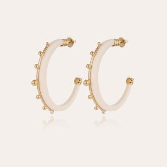 Bagheera hoop earrings large size gold - Ivory