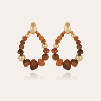 Biba Bis earrings acetate gold - Tortoise