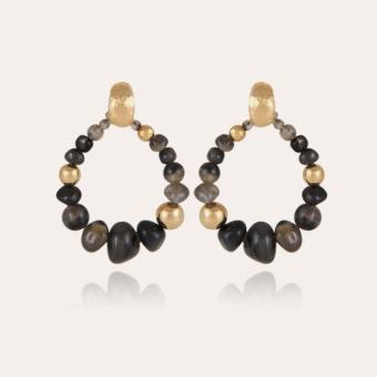 Biba Bis earrings acetate gold - Grey