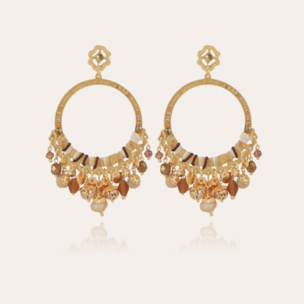 Cécile Serti earrings small size gold
