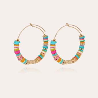 Aloha hoop earrings gold