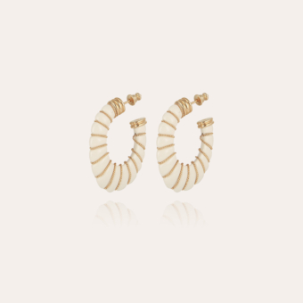 Cyclade earrings small size gold - Ivory
