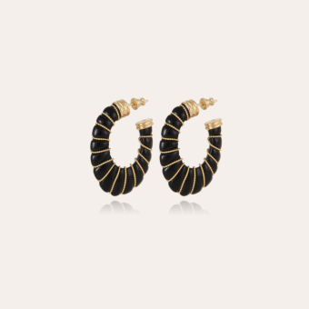 Cyclade earrings small size gold - Black