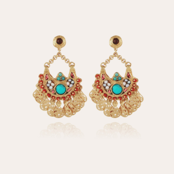 Eventail earrings small size gold