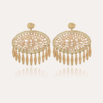 Fanfan raffia earrings gold