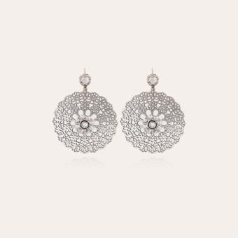 Flocon earrings small size silver