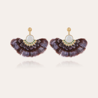 Serti Gaia earrings gold - Exclusive piece (4 pieces)