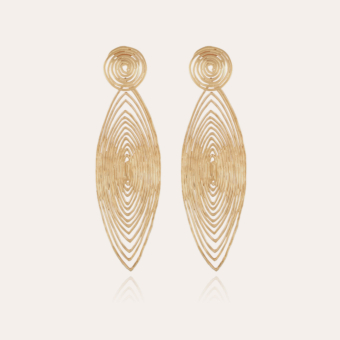 Longwave earrings large size gold