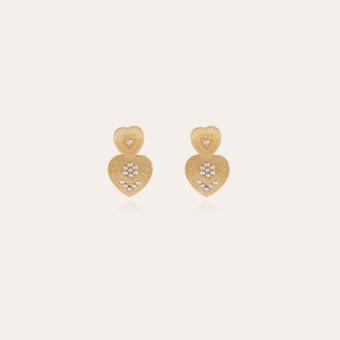 Love earrings mini gold