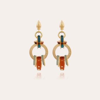 Prato earrings large size acetate gold