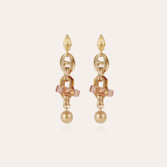 Prato earrings small size acetate gold