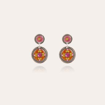 Sequin earrings silver