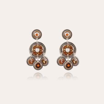 Sequin two rows earrings earrings silver