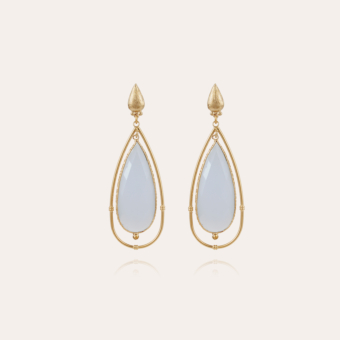 Serti Cage earrings large size gold