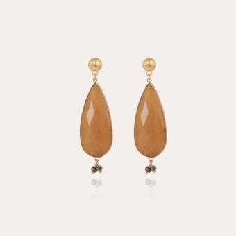 Serti Goutte earrings gold