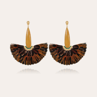 Serti Paon earrings gold