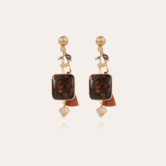Serti Pondichérie earrings small size gold
