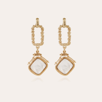 Siena earrings gold - White mother-of-pearl