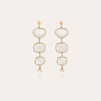 Silene mother-of-pearl earrings gold