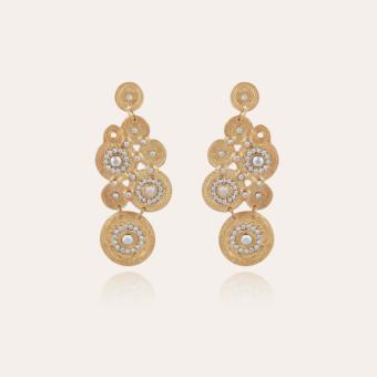 Tornade earrings gold