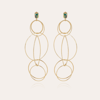 Torsade Scaramouche enamel earrings gold