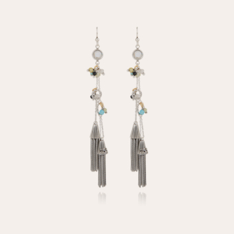 Tresse Serti earrings silver