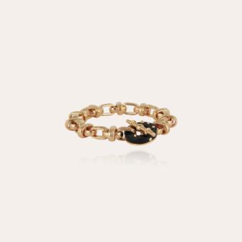 Adrian bracelet acetate gold - Black