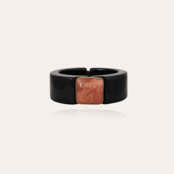Arty Bis bracelet acetate gold - Black - Exclusive piece