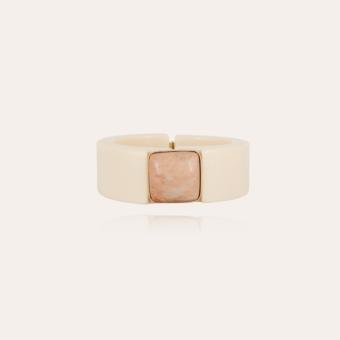 Arty bis bracelet acetate gold - Ivory
