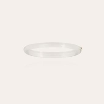 Caftan bracelet acetate gold - Clear
