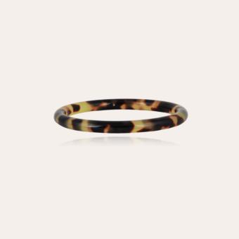 Caftan bracelet acetate gold - Tortoise