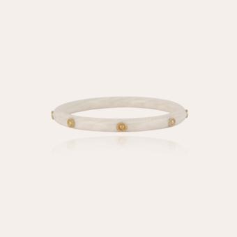 Caftan Bis bracelet acetate gold - Ivory