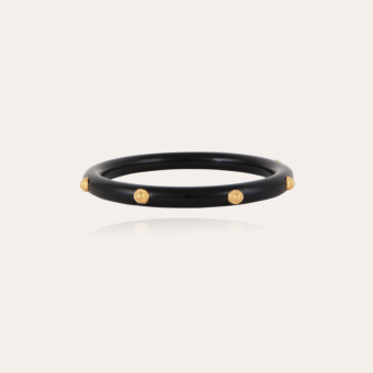 Caftan Bis bracelet acetate gold - Black