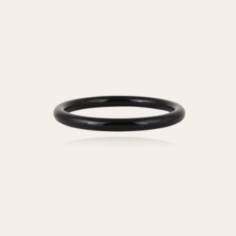 Caftan bracelet acetate gold - Black