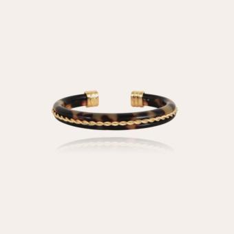 Caftan Torsade bracelet acetate gold - Tortoise