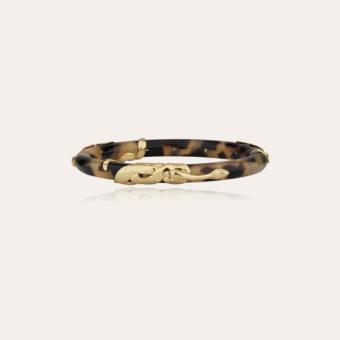 Cobra jonc bracelet acetate gold - Tortoise