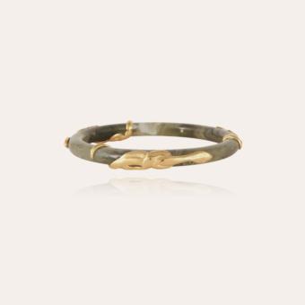 Cobra jonc bracelet acetate gold - Verdigris