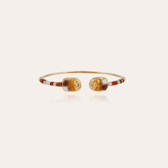 Duality large Scaramouche bracelet gold