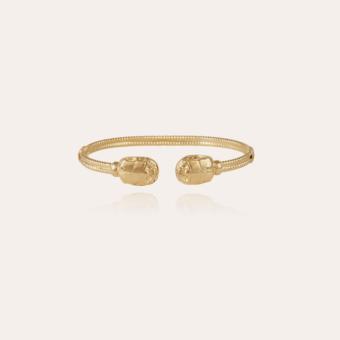 Duality large Scaramouche Twist bracelet gold