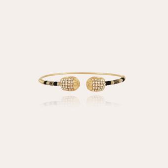 Duality large Scaramouche strass bracelet gold