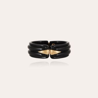 Ecume bracelet acetate gold - Black