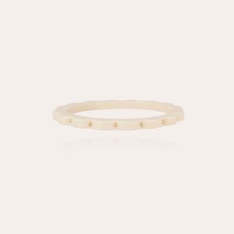 Froufrou bracelet acetate gold - Ivory
