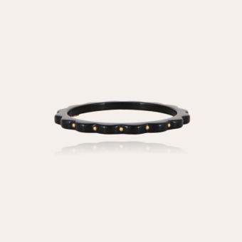 Froufrou bracelet acetate gold - Black