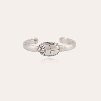 Scarabee bangle bracelet silver