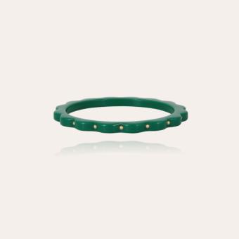 Froufrou bracelet acetate gold - Green