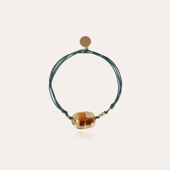 Scaramouche enamel bracelet gold