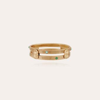 Strada double Scaramouche bracelet gold