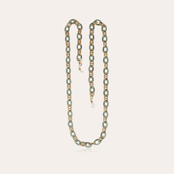 Prato glasses chain necklace small size acetate gold