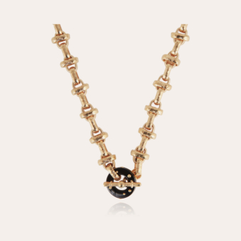 Adrian necklace acetate gold - Black